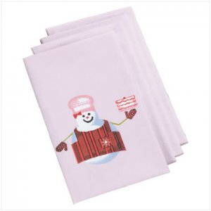 Discount Christmas Shopping: Perfectly Plaid Snowman Napkins  Set of 4