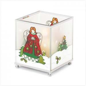 Discount Christmas Shopping: Square Christmas Angel Candleholder