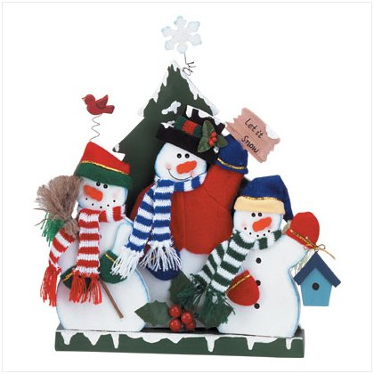 Discount Christmas Shopping: Wood Snowman Stand
