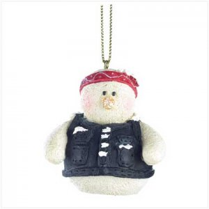 Discount Christmas Shopping: Snowberry Cuties Biker Chick Ornament