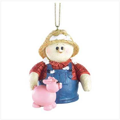 Discount Christmas Shopping: Snowberry Cuties Farmer Ornament