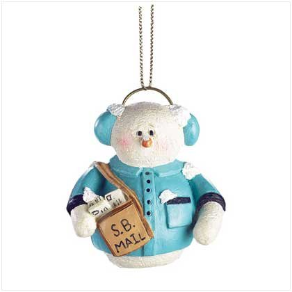 Discount Christmas Shopping: Snowberry Cuties Mailman Ornament
