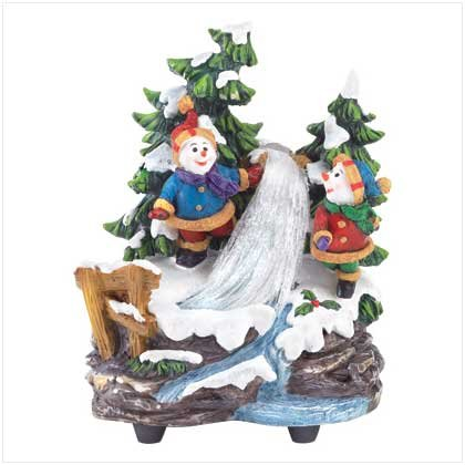 Discount Christmas Shopping: Snowmen W/fiber Optics & Music