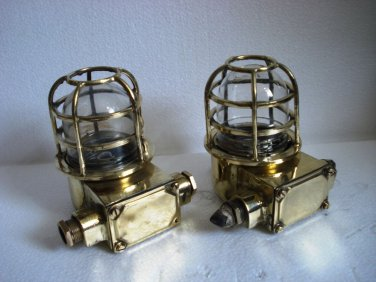 Lot of 2 pieces SHIP'S BRASS passage Light / Lamp - SHIP'S ORIGINAL (B)