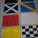 "Set of 8 Racing Flags Race NASCAR Signal Set - 14"" X 18"""