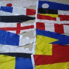 "Naval Signal Pennants - 28"" X 12"" - Total 14 Flags"
