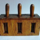ANTIQUE Wooden Number Rout Box - WOODEN  - SHIP'S 100% ORIGINAL (G)