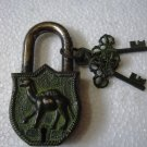 ANTIQUE Style CAMEL Type Padlock - Lock with Key - Brass Made