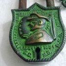 ANTIQUE Style Padlock - Lock with Key - Brass Made (B)