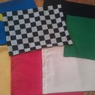 "Set of 7 Racing Flags Race NASCAR Signal Set - 14"" X 18"""