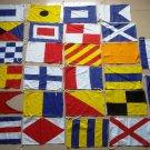 MARINE NAVY Signal Code FLAG Set - 100% COTTON  -Set of Total 26 flag