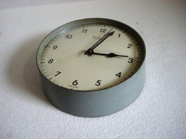 WEIMER Marine WALL Clock QUARTZ  - RARE - MADE IN GDR (d)
