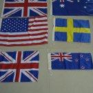 Lot of 60 pieces FLAGS - USA, ENGLAND, AUSTRALIA, SWEDEN, NEW ZEALAND, UK