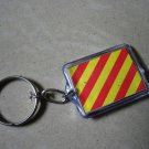 Y - Naval Signal Flag KEY CHAIN - YANKEE - Dragging Anchor- FREE SHIPPING