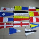 "Naval Signal Pennants - 20"" X 8.5"" - Total 14 Flags- BOTH SIDED"