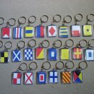 Naval Signal Flags / Flag KEY CHAIN - Total 26 Key Chain - BOTH SIDE