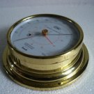 EIWA Marine ANEROID BAROMETER with THERMOMETER - BRASS - JAPAN