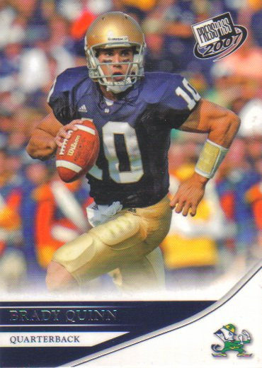 2007 Press Pass Brady Quinn RC #2