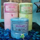 Palm Pillar Candle 3x3 round