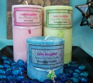 Palm Pillar Candle 3x6 round