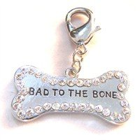 Swarovski Crystal Bad to the Bone Tag