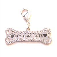 Swarovski Crystal Dog Gone Cute Tag