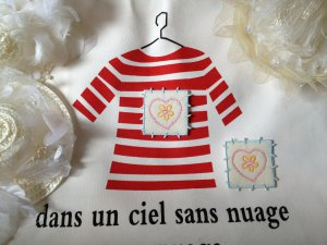 DIY patch Sunflower Heart embellished embroidery 2pcs DIY clothing material 4designcraft