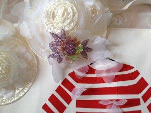 DIY Brooch purple Adorable Fancy Princess flower Beading badge Sequin Embellishments 4designcraft