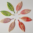 bead beading Shinny leaves  embroidery badge DIY accessory Embellishment※4DesignCraft※