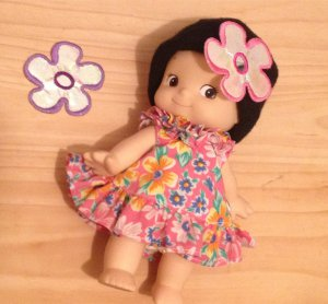 Shinny Embellishments Lavender pink flower Patch DIY Bdoll Flower Card Birthday Day 4DesignCraft