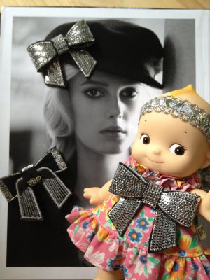 Doll hair DIY mini dress sequin patch blythe pullip kewpie ooak maker�4DesignCraft�