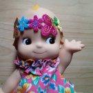 Headband Doll hair Embellishments colourful floral flower Patch DIY Bdoll 4DesignCraft