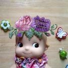 Doll Embellishments flower Patch DIY Bdoll blythe pullip kewpie 4DesignCraft