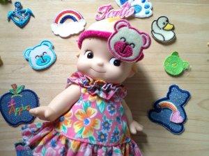 $0.4pc DIY scrapbook doll project scrapbooking hair accessory 4designcraft