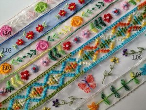 embroidery Lace DIY Headband hair Embellishments Doll project 4DesignCraft