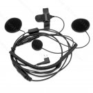 Headset pasted inside of helmet with push to talk button for Motorola radio XTN446 XTN500