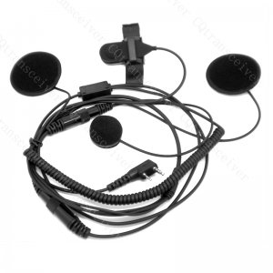 Helmet Headset with speakers and mic working with Kenwood radio TK430 TK431 TK-2100