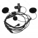 Noise Cancel Close Face Motorcycle Helmet Headset for Icom radio IC-F11 IC-F14 IC-F21 IC-F22 IC-F24