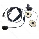 High Quality Open Face Helmet Headset mic for Icom Two way radio Right Angle 2 pin connector