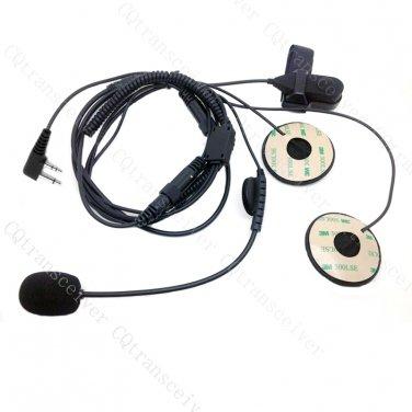 Helmet Headset Open Face for Icom Handheld radio Right Angle Plug IC-F11 IC-F21 IC-F3GS IC-F4S