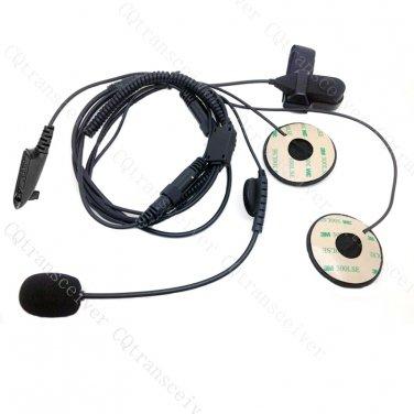 Boom Mic Headset Half Face 4 Razor SkullSkins Raider Helmet Motorola GP328 GP338 GP339 GP140 GP680