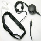 Military 2 sensors Throat Microphone Earpiece with PTT for Yaesu Walkie talkie VX7R VX6R VX120 VX170