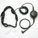 Rugged Throat mic Headset with Large PTT for Motorola FRS/GMRS radio FR50 FR60 Spirit GT plus series
