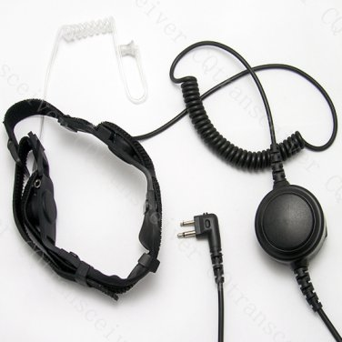Military PTT Throat Mic earpiece for Motorola portable radio GP2000 GP2100 GP300 GP308 GP88S