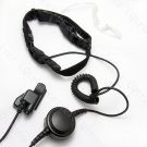 Hands free Throat Mic with tube ear bud and Large PTT for Motorola HAM radio MTS1200 MTS2000 MTX1000