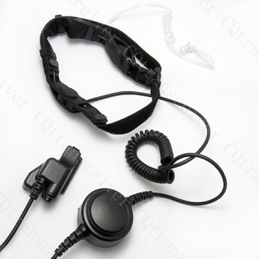 2 sensors throat mic Headset with big PTT 4 Motorola radio GP1200 GP900 HT1000 HT1100 JT1000 MT2000