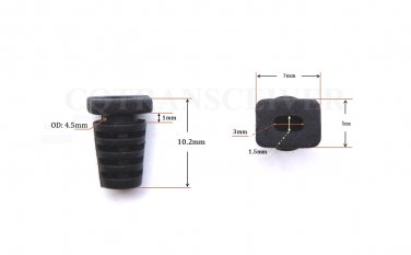 100pcs Plastic Slip on Flat Hole Cable Strain Relief Clip 4 OEM Cord Max Outside Diameter 3.0x1.5mm