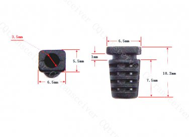 100 pcs Plastic Slip on Cable Strain Relief Clip for OEM Cord Maximum OD Outside Diameter 3.5mm
