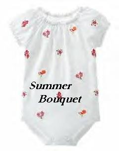 Gymboree SUMMER BOUQUET Floral Onsie 6-12 months NWT
