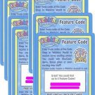 Webkinz FEATURE CODES Lot of 15 PLUS 10 Virtual Pack codes!! HTF NEW RARE